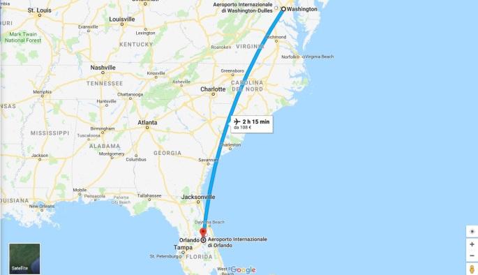 3 - Volo Washington - Orlando 24 Ago.