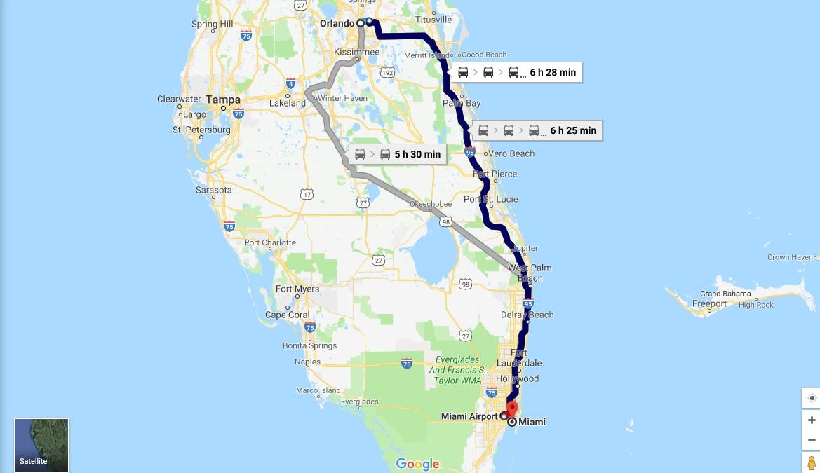 4 - Treno Orlando - Miami 27 Ago.